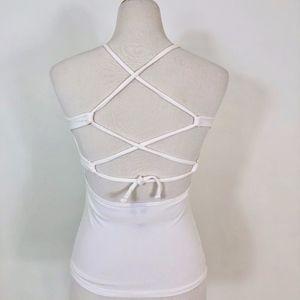 Sense Cross back Yoga Top White - SML - NWOT